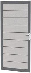 Composiet deur in aluminium frame 90x183cm grijs