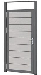 Aluminium kozijnset, 2 palen en 1 bovenregel tb.v composiet deur