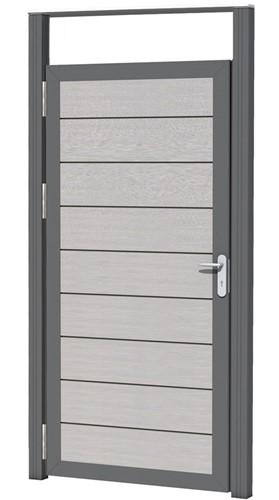 Aluminium kozijnset, 2 palen en 1 bovenregel tb.v composiet deur (23660)