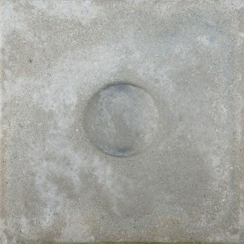 Knikkerpottegel 30x30x6cm  grijs