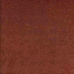 Rubbertegel 50x50x4,5cm  rood