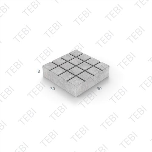 Ruittegel KOMO 30x30x8cm zwart structuur