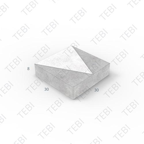Verkeerstegel 30x30x8cm driehoek zwart/wit
