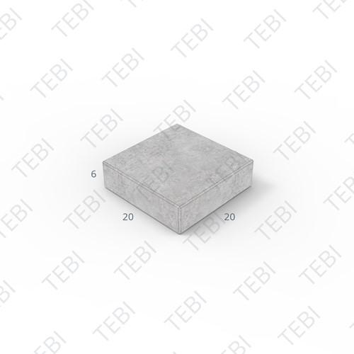 Tegel KOMO 20x20x6cm uitgew. Wascon 1307 grijs graniet