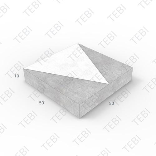 Verkeerstegel 50x50x10cm driehoek zwart/wit
