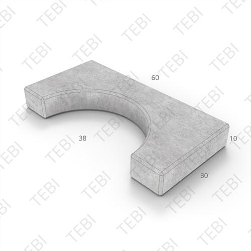 Sparingtegel KOMO 30x60x10cm grijs (gat ovaal 37x27cm)