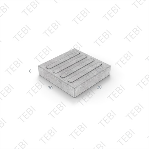 Gidslijntegel 2.0 KOMO 30x30x6cm wit 4-lijns
