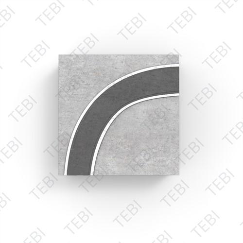 Watertegel 30x30x5cm grijs Type 3