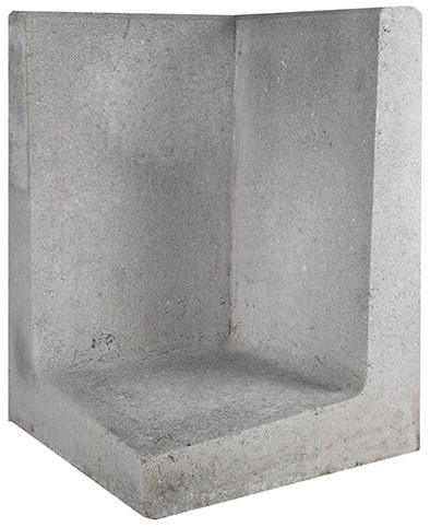 L-Element Hoek 40x40x60cm grijs