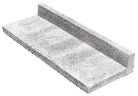 Oud Hollandse traptrede L-element 40x15x100cm grijs