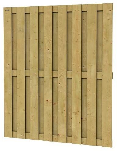 Jumboscherm geschaafd vuren 15-planks 15mm 180x200cm recht verticaal (W306495)