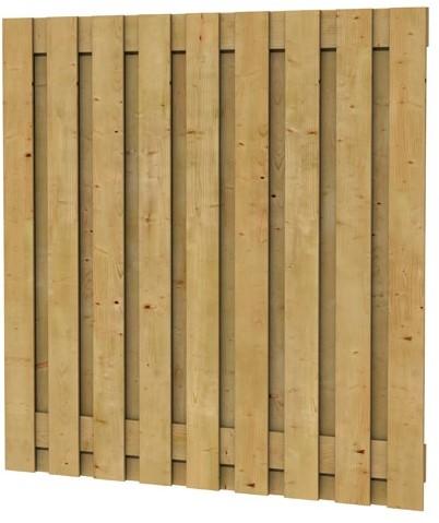 geschaafd plankenscherm grenen 19-planks 15mm 180x180cm verticaal recht (W08176)