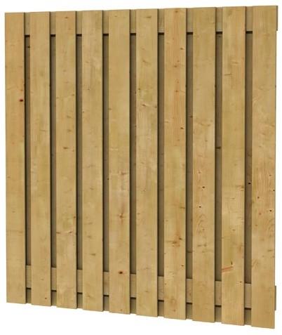 geschaafd plankenscherm grenen 21-planks 17mm 180x180cm verticaal recht (W08116)
