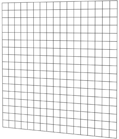 Gaaspaneel met maas 10x10cm stekloos, 170x170cm zwart gepoedercoat (08338)