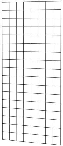 Gaaspaneel met maas 10x10cm stekloos, 80x170cm zwart gepoedercoat