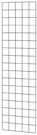 Gaaspaneel met maas 10x10cm stekloos, 50x170cm zwart gepoedercoat