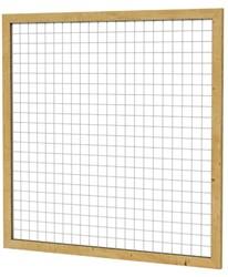 Betonijzertrellis met maas 7,5x7,5cm in grenen raamwerk 4,4x6,8cm 180x180cm