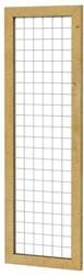 Betonijzertrellis met maas 7,5x7,5cm in grenen raamwerk 4,4x6,8cm 60x180cm