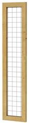 Betonijzertrellis met maas 7,5x7,5cm in grenen raamwerk 4,4x6,8cm 40x180cm