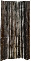Bamboescherm op rol 180x180cm zwart