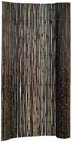 Bamboescherm op rol 180x180cm zwart (17079)