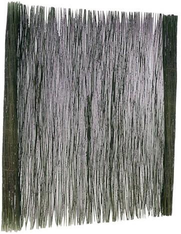 Wilgenteenmat 1 stengel dik met staaldraad gevlochten 100x200cm (W17037)