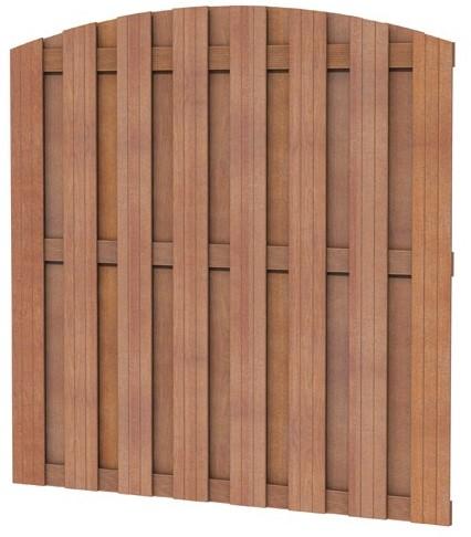 Hardhouten plankenscherm toog verticaal 180x170/180cm (W14365)
