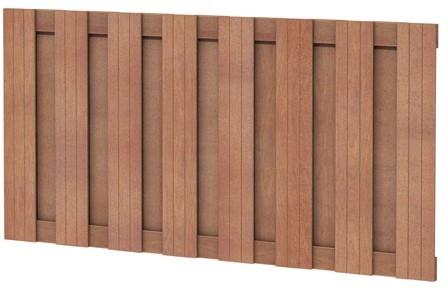 Hardhouten plankenscherm recht verticaal 180x90cm (W14368)