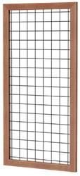 Betonijzertrellis met maas 10x10cm in hardhouten raamwerk 4,5x7,0cm 90x180cm zwart gepoedercoat