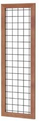 Betonijzertrellis met maas 10x10cm in hardhouten raamwerk 4,5x7,0cm 60x180cm zwart gepoedercoat