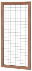 Betonijzertrellis met maas 7,5x7,5cm in hardhouten raamwerk 4,5x7,0cm 90x180cm