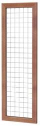 Betonijzertrellis met maas 7,5x7,5cm in hardhouten raamwerk 4,5x7,0cm 60x180cm