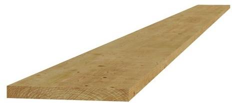 Grenen fijnbezaagde plank 2,0x20x400 cm, groen geïmpregneerd (W06415)
