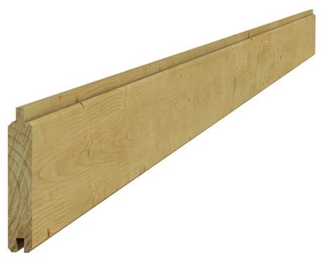 Scand vuren geschaafd dakbeschot 1,6x10x300cm groen geïmpr. (W88204)