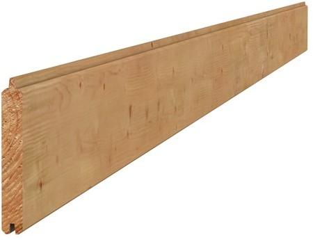 Douglas geschaafd dakbeschot 1,6x11,6x300cm groen geïmpr. (W42022)
