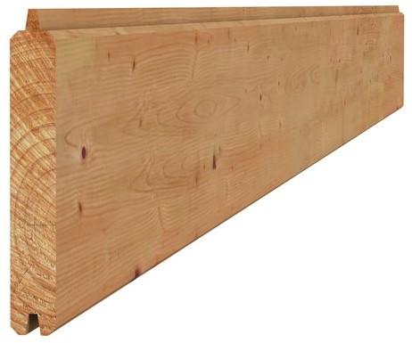 Douglas geschaafd blokhutprofiel 2,8x19,5x400cm groen geïmpr. (W44044)