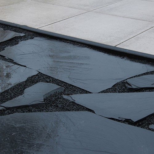 Flagstone Black Pearl zwart 70kg p/m²