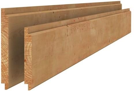 Douglas geschaafd halfhouts rabat 4xvelling 1,8x19,5x300cm groen geïmpr. (W44600)