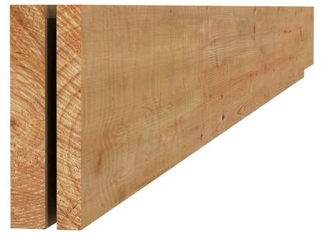 Douglas fijnbezaagde plank 2,2x20,0x500cm groen geïmpr. (W44422)