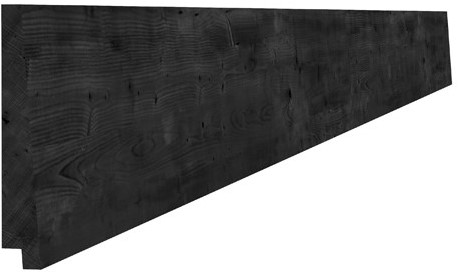 Douglas zweeds rabat breed 1,1-2,7x19,5x400cm zwart gedompeld (1017062)