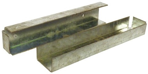 U-profiel t.b.v. betonplaat muur- of hoekbevestiging (W19025)