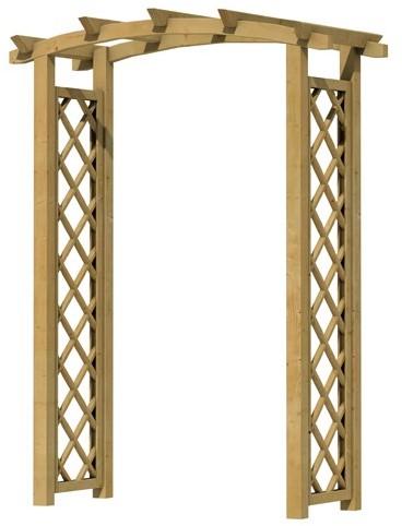 Rozenboog klein, doorgangsbreedte 120cm (W08517)