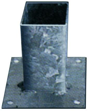 Vloerpaalhouder verzinkt 7x7cm (W19026)