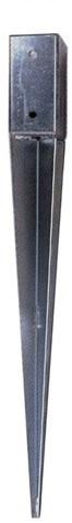 Palensteun verzinkt 7x7x75cm (W19011)