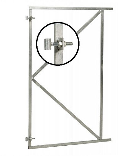 Verstelbaar stalen poortframe 90x155 cm, vuurverzinkt (W07630)