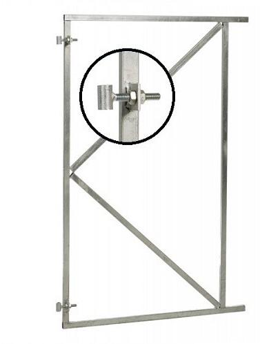 Verstelbaar stalen poortframe 150x155 cm, vuurverzinkt (W07640)