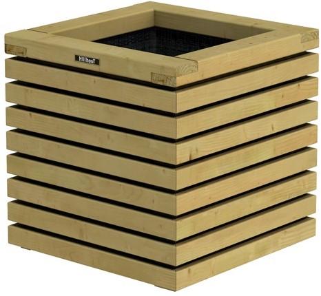 Elan Bloembak, 50x50x50cm groen geïmpr. (W636452)