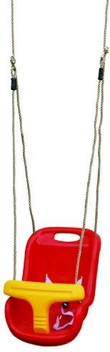 Babyzitje luxe rood/geel (W12505)