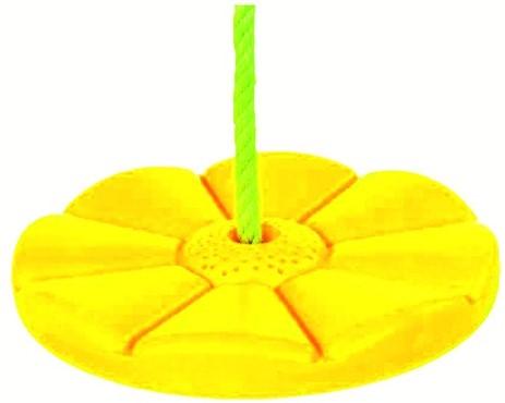 Schotelschommel kunststof, geel (W12574)