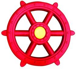 Piratenstuur kunststof, rood/geel
